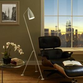 Askance Floor Lamp in White