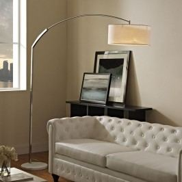 Strobe Marble Floor Lamp in White
