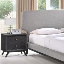 Bethany 2 Piece Queen Bedroom Set in Black Gray