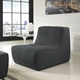 Align Upholstered Armchair in Charcoal