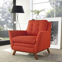Beguile Fabric Armchair in Atomic Red