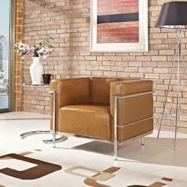Charles Grande Armchair in Tan
