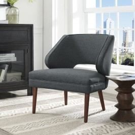 Dock Fabric Armchair in Gray