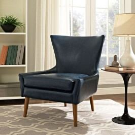 Keen Vinyl Armchair in Blue