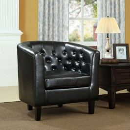 Prospect Vinyl Armchair in Black