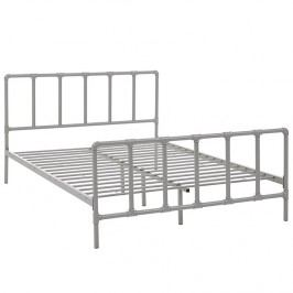 Dower Queen Stainless Steel Bed in Gray