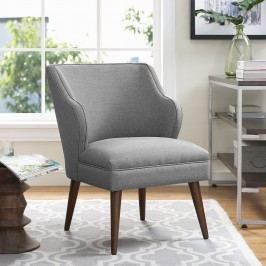 Swell Fabric Armchair in Light Gray
