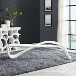 M??bius Bench in White
