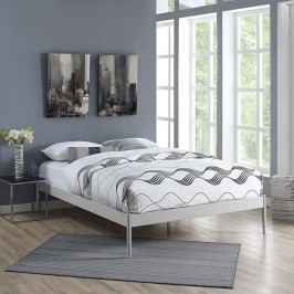 Elsie Full Fabric Bed Frame in Gray