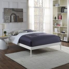 Elsie Full Fabric Bed Frame in White
