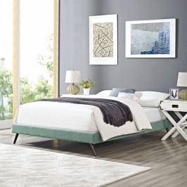 Helen Full Fabric Bed Frame with Round Splayed Legs in Laguna