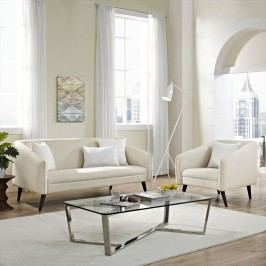 Slide Living Room Set Set of 2 in Beige