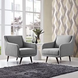 Verve Armchairs Set of 2 in Light Gray