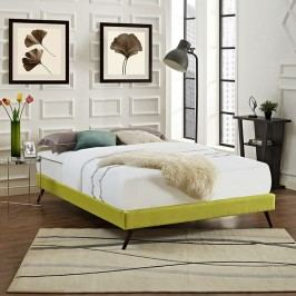 Helen King Fabric Bed Frame with Round Splayed Legs in Wheatgrass