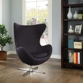 Glove Wool Lounge Chair in Dark Gray