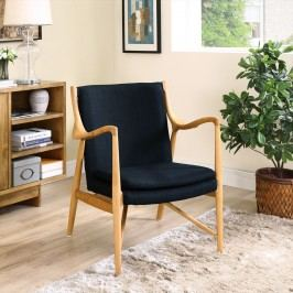 Makeshift Upholstered Lounge Chair in Birch Black