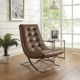 Slope Lounge Chair in Brown
