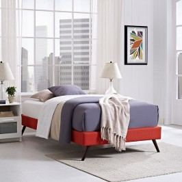 Helen Twin Fabric Bed Frame with Round Splayed Legs in Atomic Red