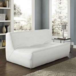Align Bonded Leather Loveseat in White