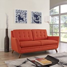 Beguile Fabric Loveseat in Atomic Red