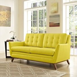 Beguile Fabric Loveseat in Sunny