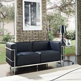 Charles Grande Loveseat in Black