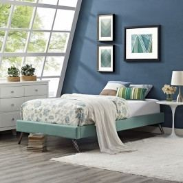 Helen Twin Fabric Bed Frame with Round Splayed Legs in Laguna
