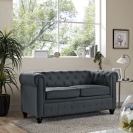 Earl Fabric Loveseat in Gray