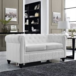 Earl Vinyl Loveseat in White