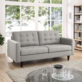 Empress Upholstered Loveseat in Light Gray