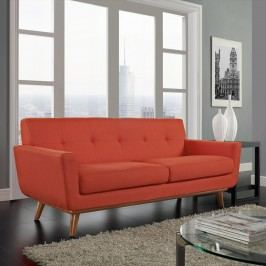 Engage Upholstered Loveseat in Atomic Red