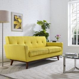 Engage Upholstered Loveseat in Sunny