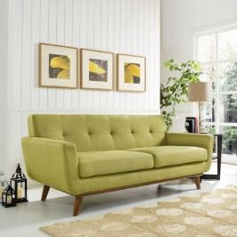 Engage Upholstered Loveseat in Wheatgrass