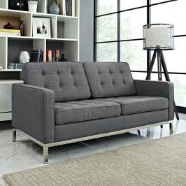Loft Fabric Loveseat in Gray