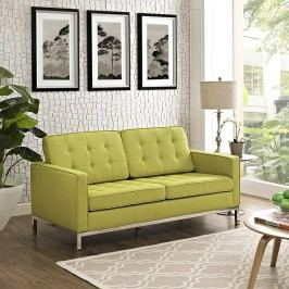 Loft Fabric Loveseat in Wheatgrass