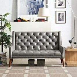 Peruse Vinyl Loveseat in Gray