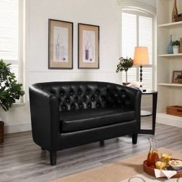 Prospect Vinyl Loveseat in Black