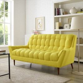 Response Fabric Loveseat in Sunny