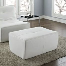 Align Bonded Leather Ottoman in White