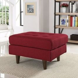 Empress Upholstered Ottoman in Red