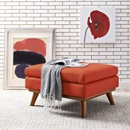Engage Fabric Ottoman in Atomic Red