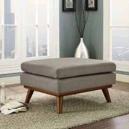 Engage Fabric Ottoman in Granite