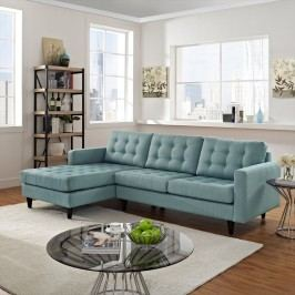 Empress Left-Facing Upholstered Sectional Sofa in Laguna
