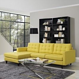 Empress Left-Facing Upholstered Sectional Sofa in Sunny