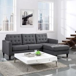 Empress Right-Facing Sectional Sofa in Gray