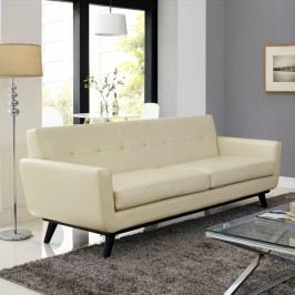 Engage Bonded Leather Sofa in Beige
