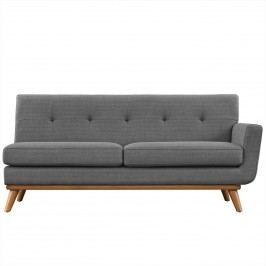 Engage Right-Arm Loveseat in Gray