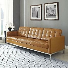 Loft Leather Sofa in Pumpkin