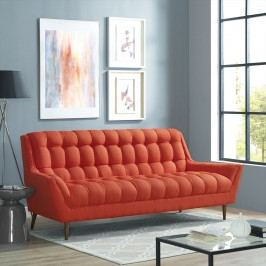 Response Fabric Sofa in Atomic Red