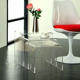 Casper Nesting Table in Clear